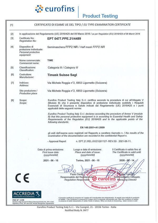 Certificato 4489 FFp2
