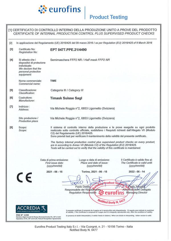 Certificato 4490