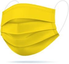 Mascherine chirurgiche TImask colore giallo