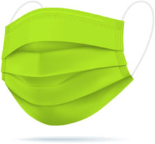 Mascherine chirurgiche TImask colore Verde acido