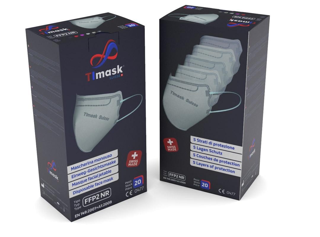 Confezioni mascherine FFP2 NR TImasck