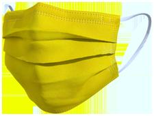 Mascherine chirurgiche coleroe giallo TImask